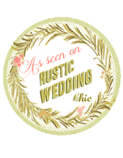 featurd on rustic wedding